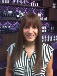 לקוחה לאחר טיפול תוספות שיער