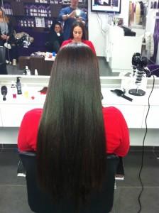 שיער חלק ארוך