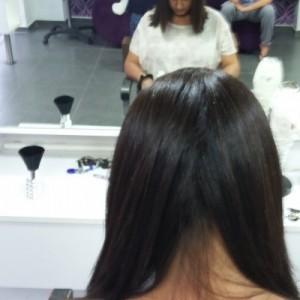 אחרי החלקת שיער